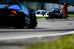 Crashed car of #49 Ram Racing Mercedes-AMG GT3: Salih Yoluc, Euan Hankey