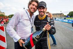 Jean-Eric Vergne, Techeetah. celebrates his win with his team