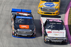 Justin Haley, GMS Racing Chevrolet and Christopher Bell, Kyle Busch Motorsports Toyota