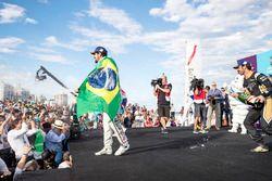 Lucas di Grassi, Audi Sport ABT Schaeffler, Jean-Eric Vergne, Techeetah, celebrate on the podium