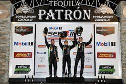 Overall podium: winners Pipo Derani, Johannes van Overbeek, Nicolas Lapierre Tequila Patron ESM Niss