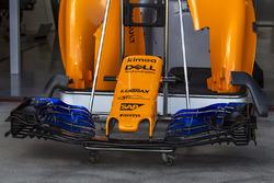 Le museau et l'aileron avant de la McLaren MCL33