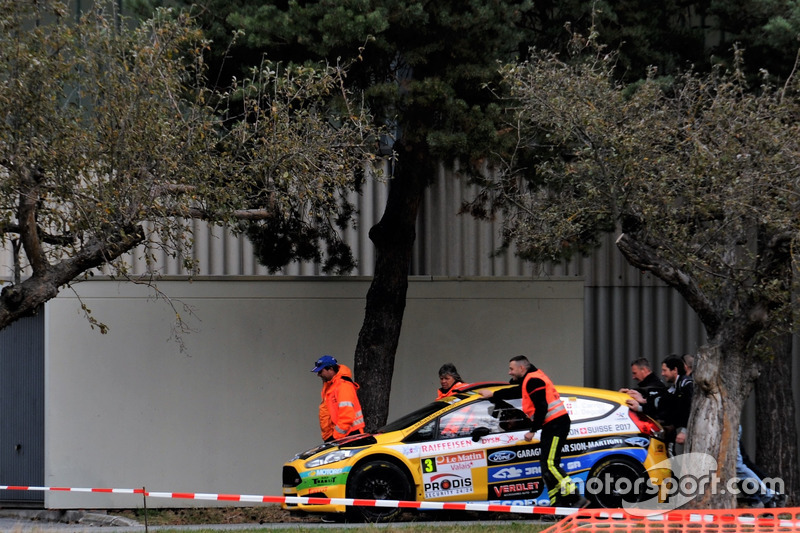 Sèbastien Carron, Jérôme Degout, Ford Fiesta R5, D-Max Swiss, Ausscheiden