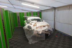 Porsche 911 GT3 Cup di Ronnie Valori dopo l'incidente