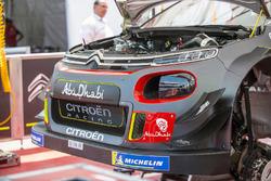 El coche de Sébastien Loeb , Daniel Elena, Citroën World Rally Team Citroën C3 WRC detalle