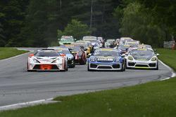 #71 MarcoPolo Motorsports KTM X-bow: Nicolai Elghanayan, #21 Muehlner Motorsports America Porsche Cayman GT4: Efrin Castro, Moritz Kranz