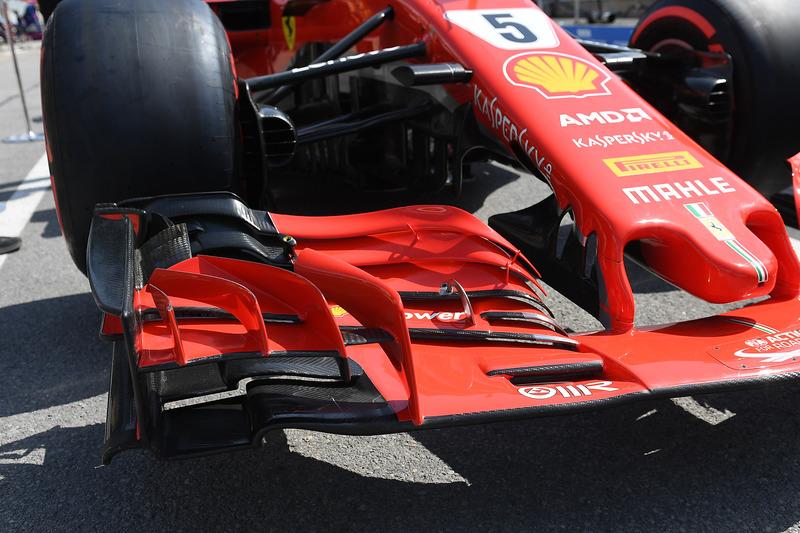 Ferrari SF71H ala frontal