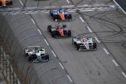 Max Chilton, Carlin Chevrolet, Will Power, Team Penske Chevrolet, Robert Wickens, Schmidt Peterson Motorsports Honda, Scott Dixon, Chip Ganassi Racing Honda
