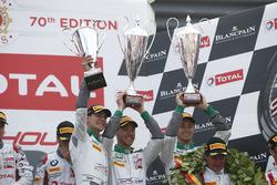 Podium: #29 Montaplast by Land-Motorsport Audi R8 LMS: Kelvin van der Linde, Sheldon van der Linde, Jeffrey Schmidt