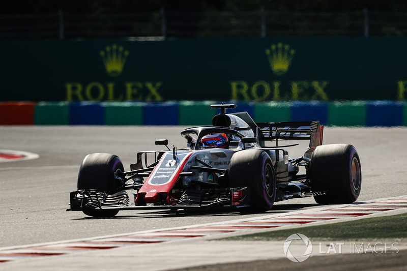 Décimo, Romain Grosjean ajudou a Haas na conquista de pontos