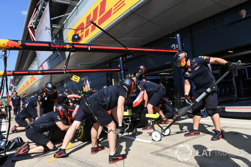 Red Bull Racing, prove di pit stop