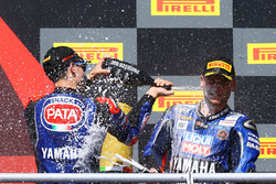 Podium : Federico Caricasulo, GRT Yamaha Official WorldSSP Team, Sandro Cortese, Kallio Racing