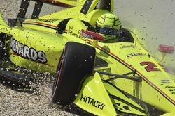Simon Pagenaud, Team Penske Chevrolet in the gravel
