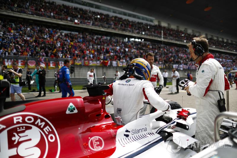 Marcus Ericsson, Sauber, na polach startowych