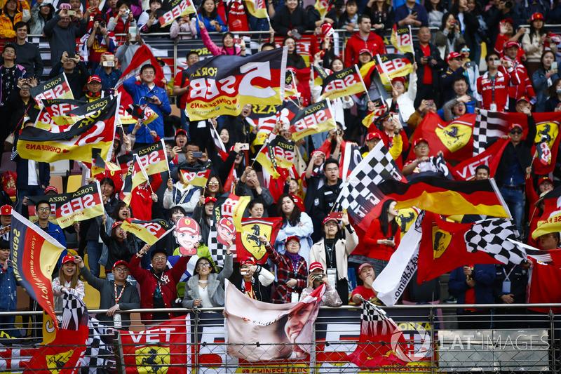 Apoyo para Sebastian Vettel, Ferrari