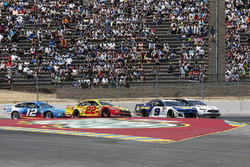 Chase Elliott, Hendrick Motorsports, Chevrolet Camaro NAPA Auto Parts Joey Logano, Team Penske, Ford Fusion Shell Pennzoil Ryan Blaney, Team Penske, Ford Fusion PPG