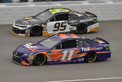 Denny Hamlin, Joe Gibbs Racing, Toyota Camry FedEx Freight and Kasey Kahne, Leavine Family Racing, Chevrolet Camaro Chevy Accessories