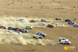 Les voitures dans le désert du Mali