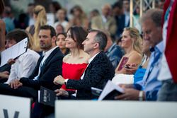 Alexander Wurz, Williams Driver Coach, Paddy Lowe, Williams Shareholder and Technical Director and wife Anna Danshina