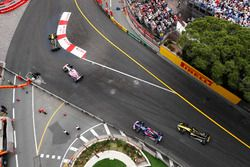 Carlos Sainz Jr., Renault Sport F1 Team R.S. 18, Sergio Perez, Force India VJM11, Pierre Gasly, Toro Rosso STR13 et Nico Hulkenberg, Renault Sport F1 Team R.S. 18