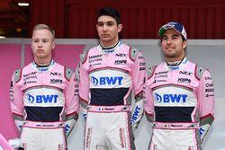 Nikita Mazepin, Sahara Force India F1, Esteban Ocon, Sahara Force India F1 and Sergio Perez, Sahara