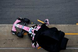 Sergio Perez, Sahara Force India and Esteban Ocon, Sahara Force India F1 unveil the new Sahara Force
