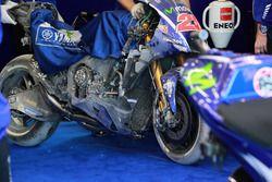 The bike Maverick Viñales, Yamaha Factory Racing after the crash