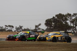 #222 Scott Taylor Motorsport Mercedes-AMG GT3: Craig Baird, Scott Taylor, #777 The Bend Motor Sport Park Mercedes-AMG GT3: Yasser Shahin, Luke Youlden