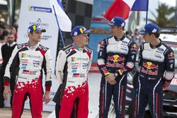 Podyum: 2. Ott Tänak, Martin Järveoja, Toyota Gazoo Racing WRT Toyota Yaris WRC, yarış galibi Sébas