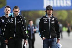 Sébastien Buemi, Renault e.Dams, Nicolas Prost, Renault e.Dams, lors du trackwalk
