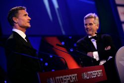 David Coulthard y Steve Rider en el escenario