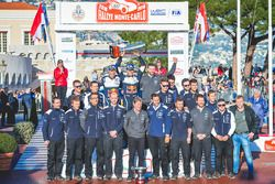 Winners Sébastien Ogier, Julien Ingrassia, Ford Fiesta WRC, M-Sport Ford with the team members