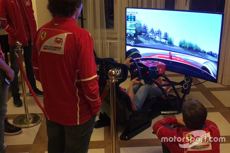 Les pilotes de la Ferrari Driver Academy s'entraînent