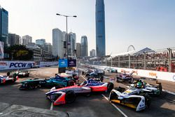 Luca Filippi, NIO Formula E Team, Nick Heidfeld, Mahindra Racing, andLucas di Grassi, Audi Sport ABT