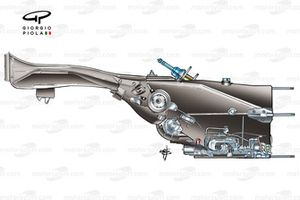 Ferrari 248 F1 (657) 2006 gearbox and rear crash structure