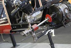 Monoposto storica con motore radiale di tipo aeronautico