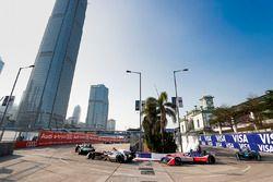 Maro Engel, Venturi Formula E, leads Nick Heidfeld, Mahindra Racing