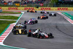 Kevin Magnussen, Haas F1 Team VF-18, Carlos Sainz Jr., Renault Sport F1 Team R.S. 18, Charles Leclerc, Sauber C37, Esteban Ocon, Force India VJM11, Fernando Alonso, McLaren MCL33, Lance Stroll, Williams FW41