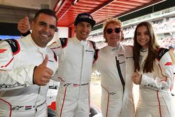 Zsolt Baumgartner, F1 Experiences 2-Seater driver, Patrick Friesacher, F1 Experiences 2-Seater driver, F1 Experiences 2-Seater passenger Rupert Grint, and F1 Experiences 2-Seater passenger Barbara Palvin