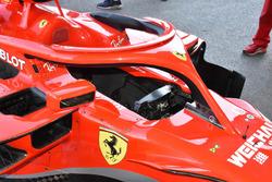 Detalle del cockpit del Ferrari SF71H