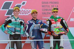 Podium: second place Joan Mir, Leopard Racing, Race winner Jorge Martin, Del Conca Gresini Racing Mo