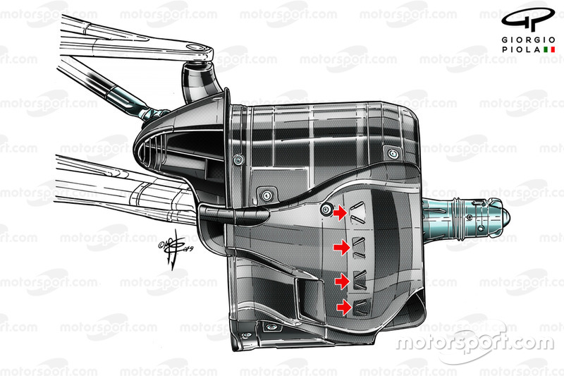 Detalhe dos freios frontais