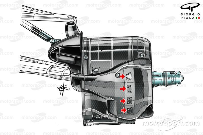 Mercedes AMG F1 W10, front brake