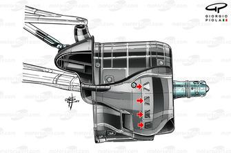 Mercedes AMG F1 W10, cestello del freno anteriore