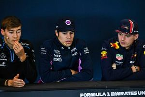 Press conference, George Russell, Williams Racing, Lance Stroll, Racing Point and Max Verstappen, Red Bull Racing