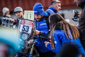 Antonio Maio during 2020 Dakar Scrutineering at Le Castellet, France