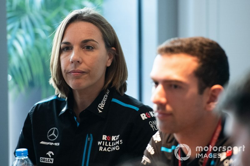 Claire Williams, Vice Team Principal, Williams Racing all'annuncio di Nicholas Latifi come pilota 2020 della Williams Racing