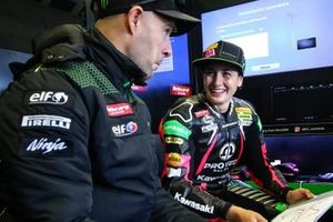 Ana Carrasco with Jonathan Rea, Kawasaki Racing Team