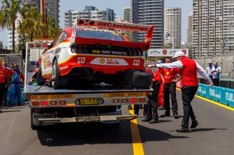 Car of Scott McLaughlin, DJR Team Penske Ford, after his crash