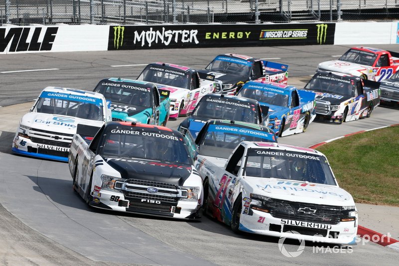 Sam Mayer, GMS Racing, Chevrolet Silverado Manpower Grant Enfinger, ThorSport Racing, Ford F-150 Curb Records